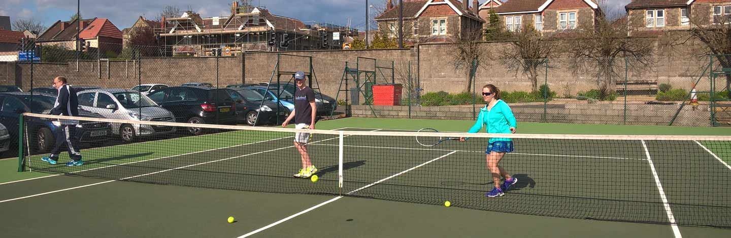 tennis Bristol club demonstration